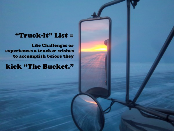 Ice road trucking e-book preview 4. Everyone has a bucket list, but many truckers have a truck-it list. Sunset on the ice roads over the Canadian Tundra.