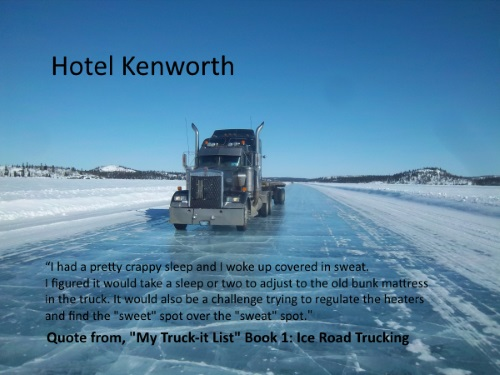 practical wisdom and prudent driving. 2001 Kenworth on ice.