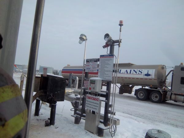 Crude Oil Hauling. Midstream riser box