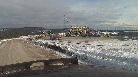 Frac Hauling Alaskan highway northern BC