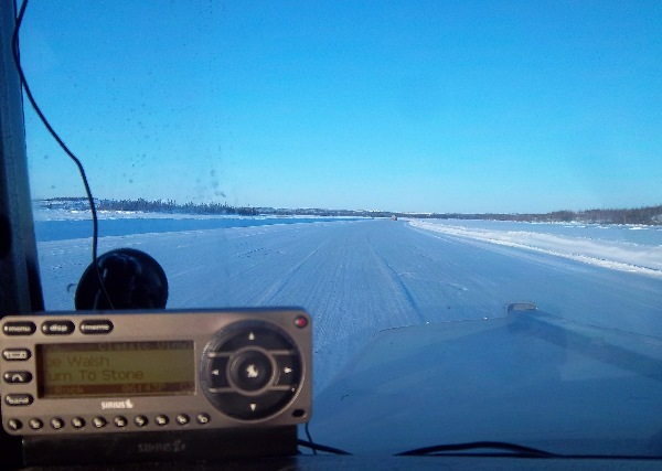 Ice Road Trucking e-book preview 12. Satellite radio was a must have for staying entertained.