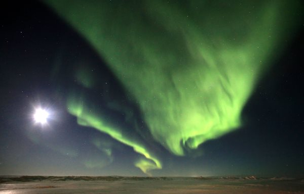 Ice road Trucking e-book preview 1. The northern lights over Northwest Territories Canada.