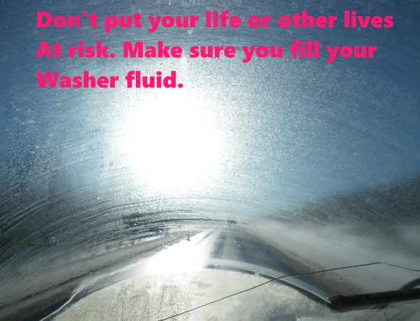 Check road reports and Put safety first. Check you fluid levels before you drive.