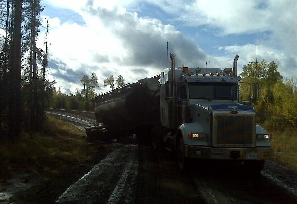 Oilfield Accidents. Muddy roads are dangerous