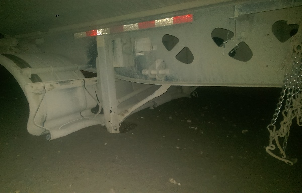 Oilfield accidents - Never drop a loaded trailer on unstable ground