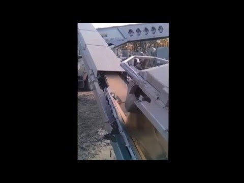 Truck driving videos. Telebelting frac sand