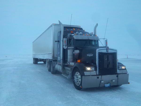 Ice Road Loads. Ice road trucking gravy load dry van