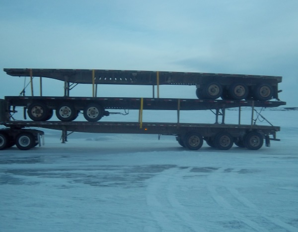 Ice Road Loads. Stacked 3 high