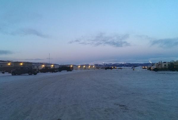 Oilfield Photos, Alaskan Highway Oilfield Camp near PInk Mountain, British Columbia