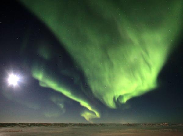 Big Rig Pictures. Northern lights