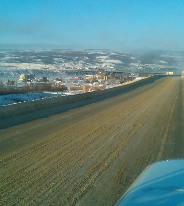 Crude Oil Hauling. Peace River, Alberta