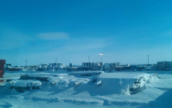 Ice Road Loads. Diamond mine storage