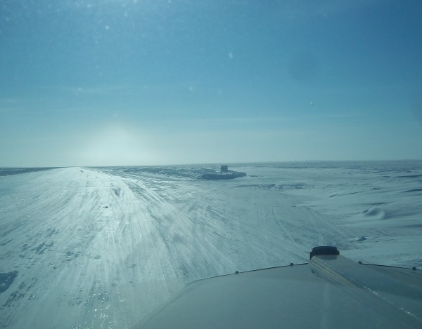 Ice Road Trucking Photos. Hammer lane, empty return lane