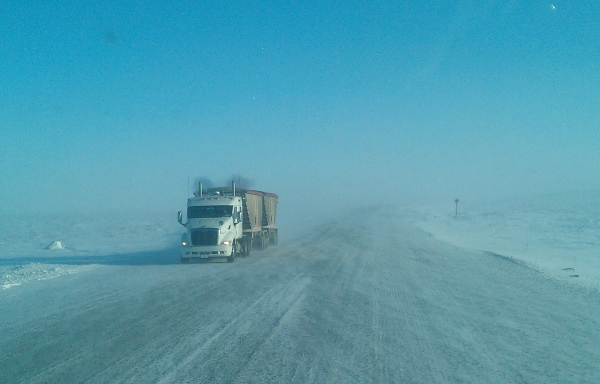 Ice Road Loads. Ammonium nitrate bound for the mine