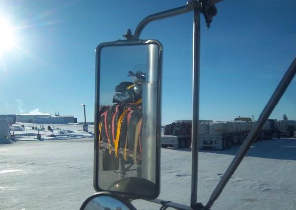 Ice Road Loads. Loads parked in Lockhart Lake