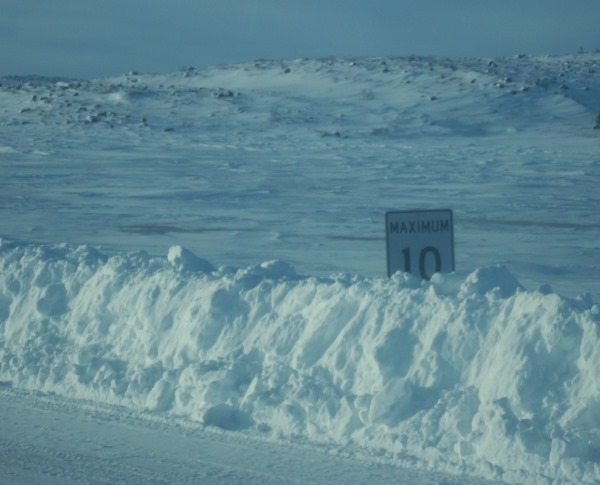 Ice Road Drivers. Ice road speed limits.