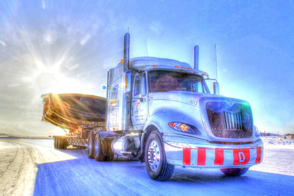 Big Rig Pictures. International on the ice roads