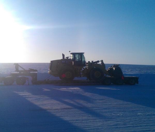 Ice Road Loads. Loader bound for Ekati