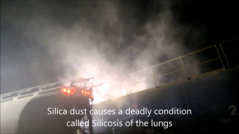 Truck Driving videos. Frac sand silica dust at night