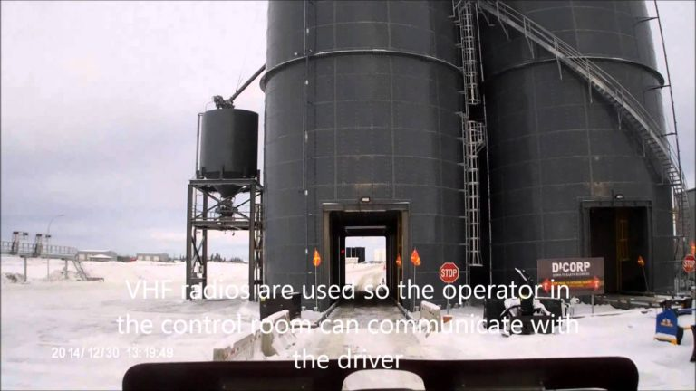 Truck Driving Videos. Loading frac sand in Grande Prairie, Alberta