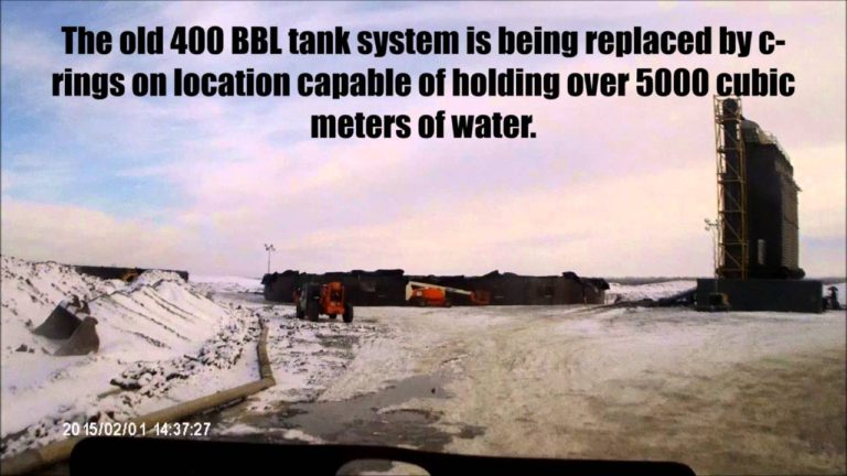Truck driving videos, Arriving at a superfracking location
