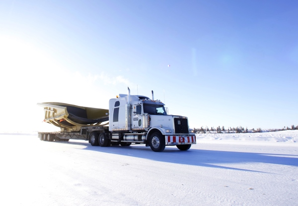 Ice Road Loads. mine equipment ice road load