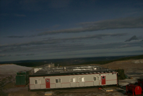 Oilfield Photos. Remote drilling rig camp in Northern Alberta
