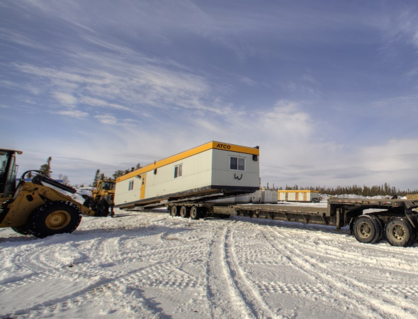 Ice Road Loads. Loading up a shack for the ice roads journey