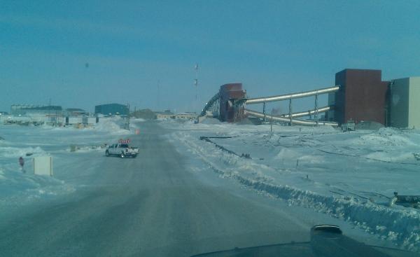 Ice Road Loads. Escort vehicles needed in diamond mines