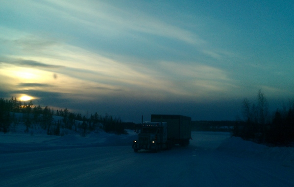 Ice Road Loads. Narrow sections of the ice road