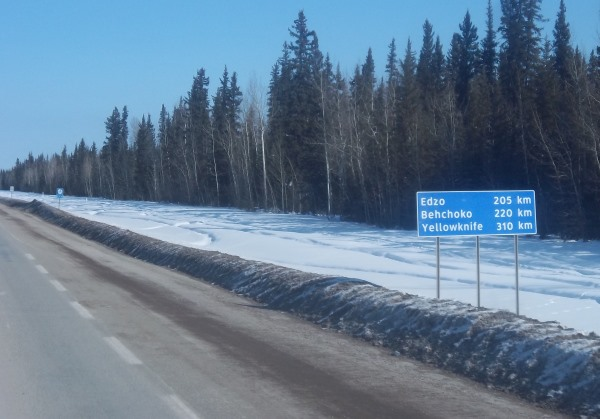 Tibbett Contwoyto Winter Road start is roughly 16 hours north of Edmonton Alberta
