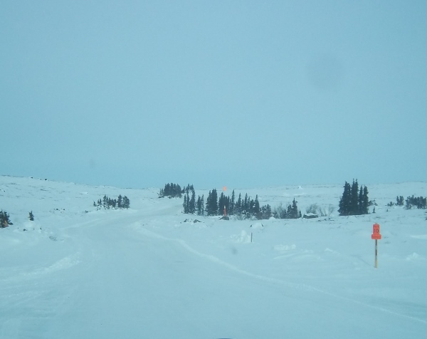 Tibbett Contwoyto Winter Road. Heading into Gahcho Kue at portage 10.