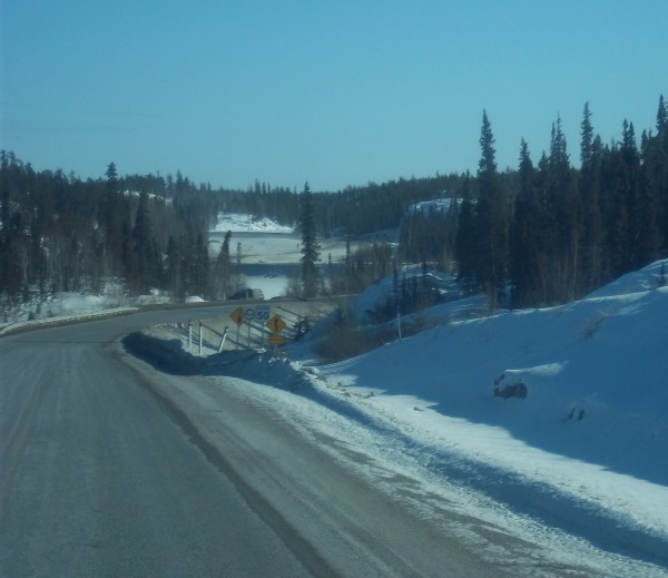 "Tibbett Contwoyto Winter Road. The ""Snake Pit"" on the Ingraham Trail north of Yellowknife."