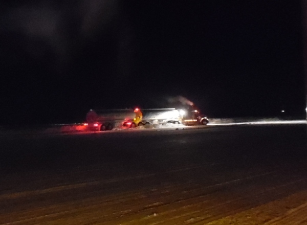 Ice road accidents. A fuel hauler hits the snowbank on Gordon Lake in the wee hours of the morning. Falling asleep at the wheel the number one Ice road accident cause.