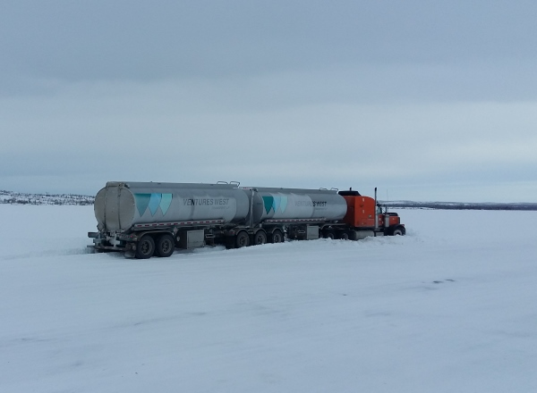 Ice road accidents. Finding a snowbank to lodge yourself into seems to be a daily event on the ice roads.