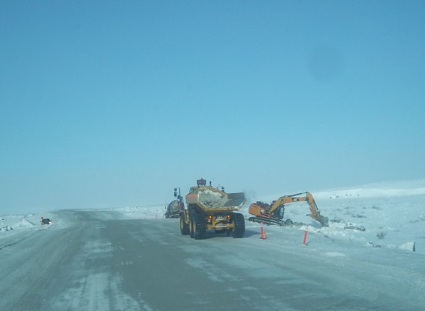 ice road accidents. Clean up starts on the misery road to Ekati after a rolled tanker truck is pulled out. Clean ups are extremely expensive on the ice roads. The environmental assessments can take years.